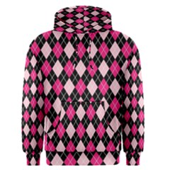 Argyle Pattern Pink Black Men s Pullover Hoodie