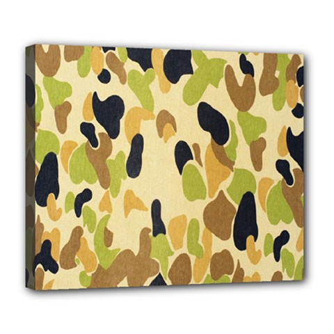 Army Camouflage Pattern Deluxe Canvas 24  X 20