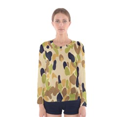 Army Camouflage Pattern Women s Long Sleeve Tee