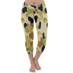Army Camouflage Pattern Capri Winter Leggings