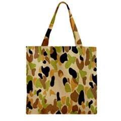 Army Camouflage Pattern Zipper Grocery Tote Bag