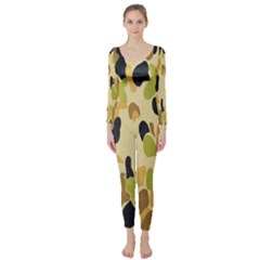 Army Camouflage Pattern Long Sleeve Catsuit