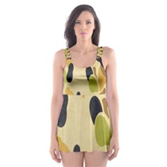 Army Camouflage Pattern Skater Dress Swimsuit