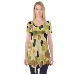 Army Camouflage Pattern Short Sleeve Tunic