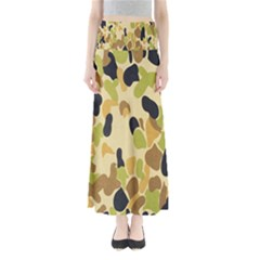 Army Camouflage Pattern Maxi Skirts
