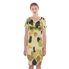 Army Camouflage Pattern Classic Short Sleeve Midi Dress