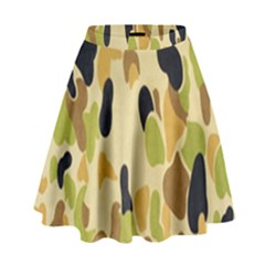 Army Camouflage Pattern High Waist Skirt