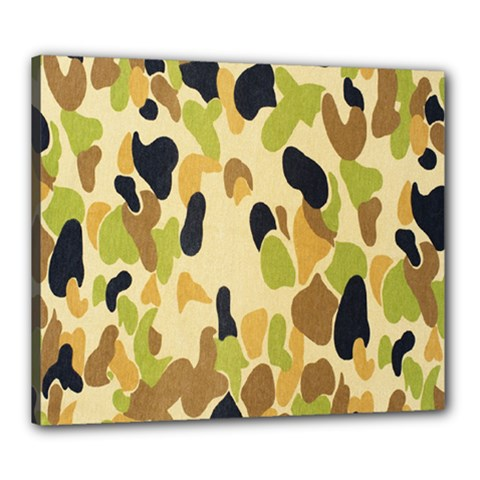 Army Camouflage Pattern Canvas 24  x 20