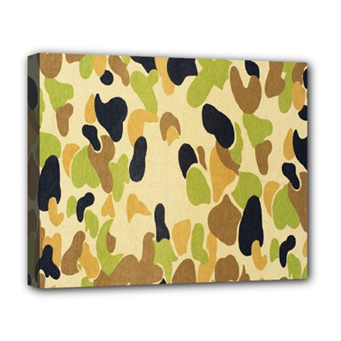 Army Camouflage Pattern Deluxe Canvas 20  x 16