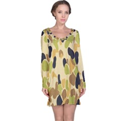 Army Camouflage Pattern Long Sleeve Nightdress