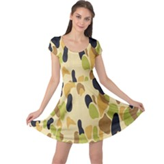 Army Camouflage Pattern Cap Sleeve Dresses