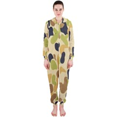 Army Camouflage Pattern Hooded Jumpsuit (Ladies)