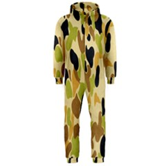 Army Camouflage Pattern Hooded Jumpsuit (Men)