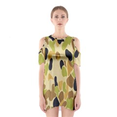 Army Camouflage Pattern Shoulder Cutout One Piece