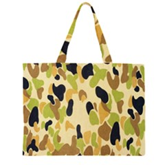 Army Camouflage Pattern Zipper Large Tote Bag