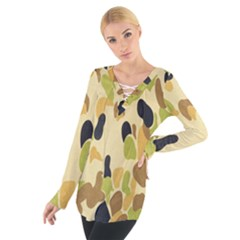 Army Camouflage Pattern Women s Tie Up Tee