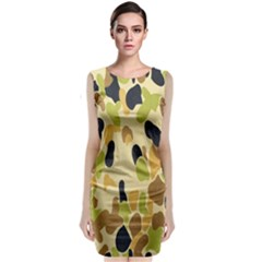 Army Camouflage Pattern Classic Sleeveless Midi Dress