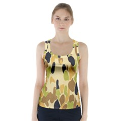 Army Camouflage Pattern Racer Back Sports Top