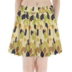 Army Camouflage Pattern Pleated Mini Skirt