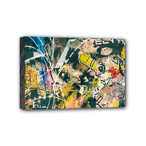 Art Graffiti Abstract Vintage Mini Canvas 6  x 4
