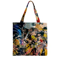 Art Graffiti Abstract Vintage Zipper Grocery Tote Bag