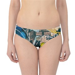 Art Graffiti Abstract Vintage Hipster Bikini Bottoms