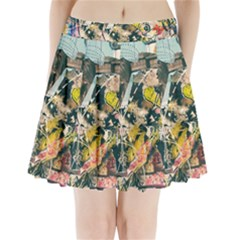 Art Graffiti Abstract Vintage Pleated Mini Skirt