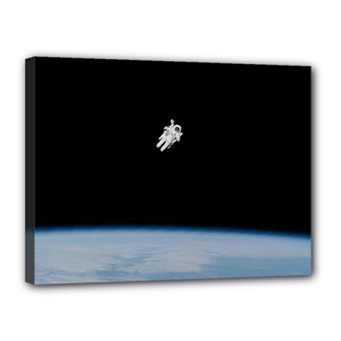 Astronaut Floating Above The Blue Planet Canvas 16  x 12