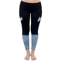 Astronaut Floating Above The Blue Planet Classic Winter Leggings