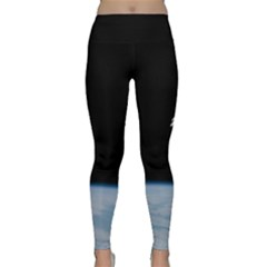 Astronaut Floating Above The Blue Planet Classic Yoga Leggings