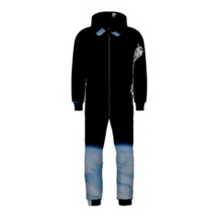 Astronaut Floating Above The Blue Planet Hooded Jumpsuit (Kids)