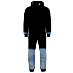 Astronaut Floating Above The Blue Planet Hooded Jumpsuit (Men)