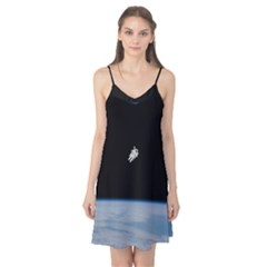 Astronaut Floating Above The Blue Planet Camis Nightgown