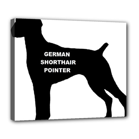German Shorthaired Pointer Name Silo Deluxe Canvas 24  x 20