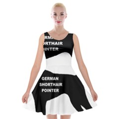 German Shorthaired Pointer Name Silo Velvet Skater Dress