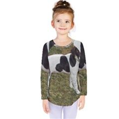 German Short Haired Pointer Puppy Kids  Long Sleeve Tee