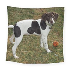 German Short Haired Pointer Puppy Square Tapestry (Large)