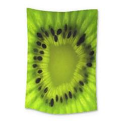 Kiwi Fruit Slices Cut Macro Green Small Tapestry