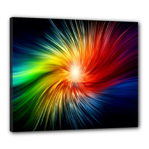 Lamp Light Galaxy Space Color Canvas 24  X 20