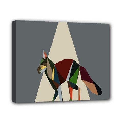Nature Animals Artwork Geometry Triangle Grey Gray Canvas 10  X 8