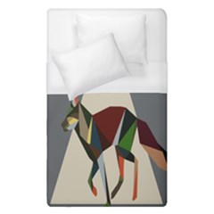 Nature Animals Artwork Geometry Triangle Grey Gray Duvet Cover (single Size)