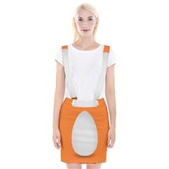 Orange White Egg Easter Suspender Skirt