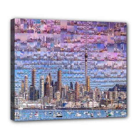 Auckland Travel Deluxe Canvas 24  x 20