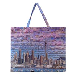 Auckland Travel Zipper Large Tote Bag