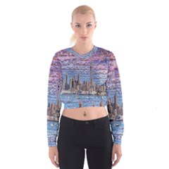 Auckland Travel Women s Cropped Sweatshirt