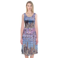 Auckland Travel Midi Sleeveless Dress