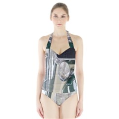 Auto Automotive Classic Spotlight Halter Swimsuit