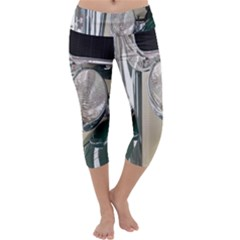 Auto Automotive Classic Spotlight Capri Yoga Leggings