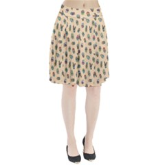 Sweet Succulents Pleated Skirt