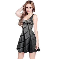 Auto Black Black And White Car Reversible Sleeveless Dress